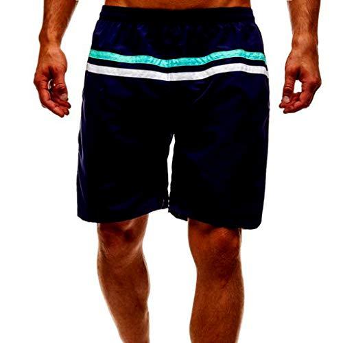 TEBAISE Herren Badeshorts Badehose Bermudashorts Beach-Shorts Freizeit-Hose Boardshorts Schwimmhose Männer Schnelltrocknend Strand Shorts für Jungen Trainingshose mit Mesh-Futter Größe M-2XL Blau