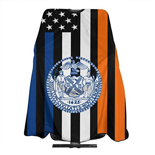New York City Flag USA Salon Hair Cutting Cape Cloth Barber Hairdressing Wrap Haircut Apron Cloth Styling Accessory For Unisex