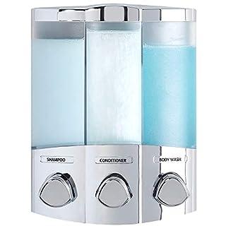 Aviva Euro Series TRIO Three Chamber Soap and Shower Dispenser, Chrome