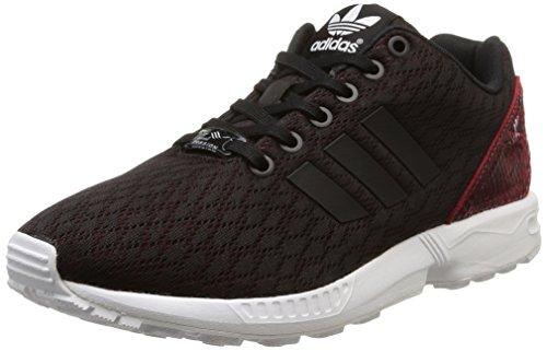 adidas Originals ZX Flux B35317, Damen Low-Top Sneaker, Schwarz (Core Black/Core Black/Tomato F15-ST), EU 38