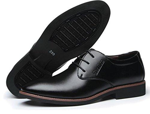 XDGG Scarpe Nuove Uomini Casual Scarpe Casual Scarpe Uomo Con Tacco Resistente Cuoio Respirabile Bottom black