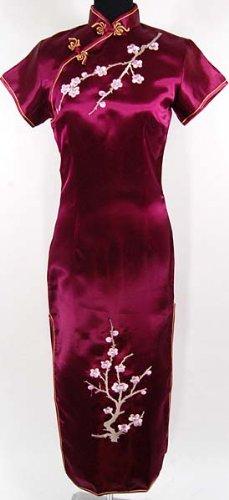 Abendkleid Design Braut Tanz Qipao Purpurrot Verfügbare Größen: 34, 36, 38, 40, 42, 44