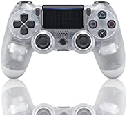 Game Controller for PS4,Wireless Controller with Dual Vibration Game Joystick (White)