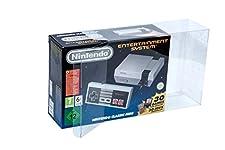 Glacier Games 1 Klarsicht Schutzhülle/ Box Protector für Nintendo Classic Mini: Entertainment System/ NES CLASSIC MINI 0.5 mm PANZERSTÄRKE Originalverpackung Passgenau Glasklar