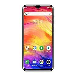 Ulefone Note 7 Smartphone ohne Vertrag Günstig 6,1 Zoll, 16GB interner Speicher, Dual SIM, Face ID, GPS, WiFi, Bluetooth (Schwarz)