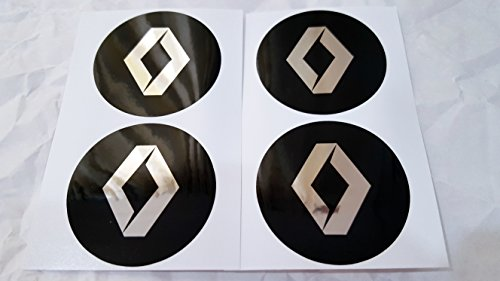 4x 65mm Durchmesser Sockel des Zentrum Radzylinder Renault Aufkleber Emblem selbstklebend für flache Oberflächen Billig