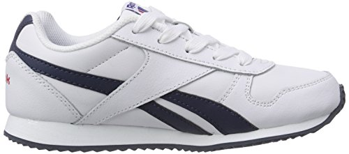 Reebok Royal Classic Jogger, Sneakers basses mixte enfant Blanc - Weiß (White/Athletic Navy/Red)