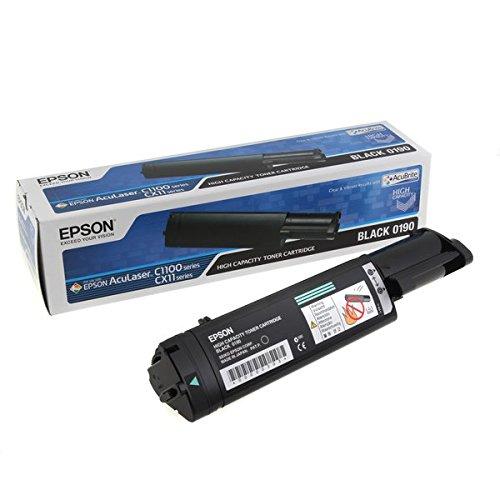 Epson C13S050190 AcuLaser C1100 Tonerkartusche Hohekapazität 4.000 Seiten AcuBrite, schwarz