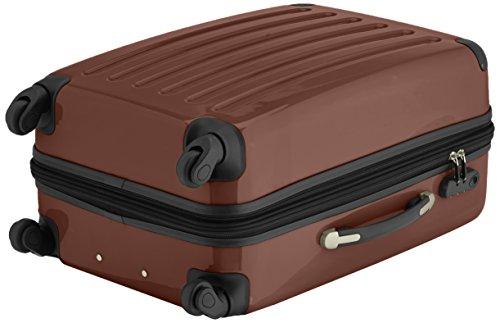 HAUPTSTADTKOFFER - Alex - 2er Koffer-Set Hartschale glänzend, 65 cm + 55 cm, 74 Liter + 42 Liter, Graphit-Blau Magenta-Braun