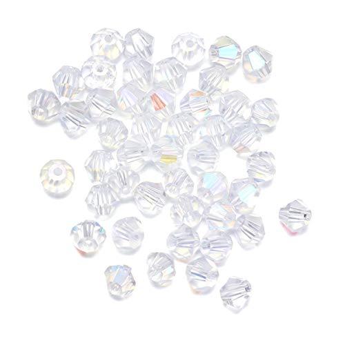 SUPVOX 720 stücke 4 MM Transparent Kristall Perlen Diamant Perle DIY Zubehör für Schmuck Halskette Handwerk Machen