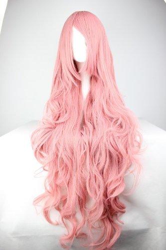 Photo Pal Perücke Pink Rosa ca. 100cm für VOCALOID Luka Cosplay oder Schaufensterpuppen Karneval oder Mottoparties (Rosa Perücke Halloween)