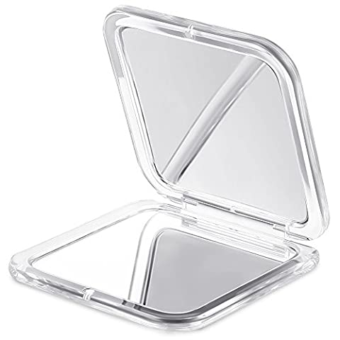 Compact Mirror of 2017, Jerrybox Double-Sided Makeup Mirror, 5× Magnification + 1× Mirror, Pocket-size, Travel, Handbag,Purse Mirror