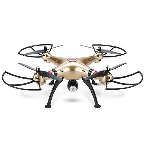 Goolsky Syma X8HC Drone con Cámara 2.0MP HD RC Quadcopter con Mantenimiento de Altura y Modo sin Cabeza