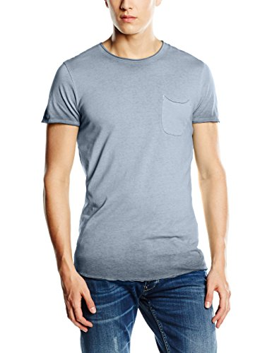 JACK & JONES VINTAGE Herren T-Shirt Jjvcjack Ss Tee T&s Crew Neck Noos Blau (Total Eclipse Fit:TALL & SLIM)