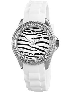 Just Watches Damen-Armbanduhr XS Analog Quarz Kautschuk 48-S3860-WH