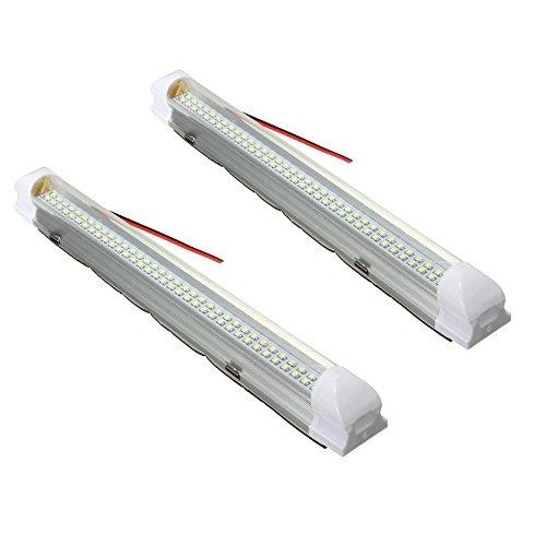 Preisvergleich Produktbild AUDEW 2x 72 LED Innenraumbeleuchtung Auto Lampe Leiste Leuchtstofflampe Innenbeleuchtung DC 12V Schalter Beleuchtung für Wohnwagen Anhänger Wohnmobil  PKW LKW Zubehör