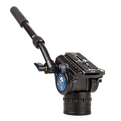 Sirui VH-10X Pro Fluid Videoneiger mit zusätzlicher Friktion für 360° Drehung, Arm verlängerbar, Aluminium, schwarz