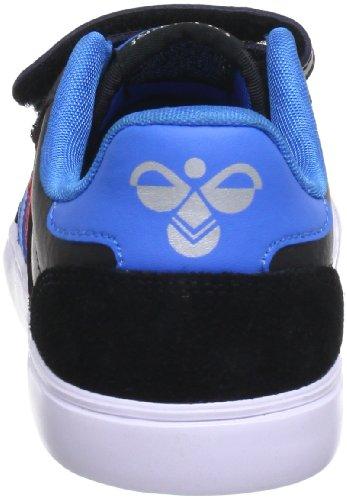 Hummel 63-675-2640, Baskets mode mixte enfant Noir (Black/Blue/Red/Gum)