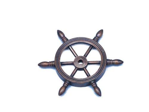 Kupfer Antik Schiff Rad Briefbeschwerer 10,2cm