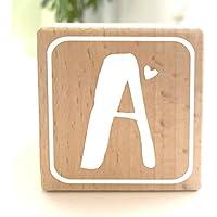 Holzwürfel mit Buchstabe A