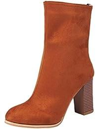 bcb2bddc94df7 GreatestPAK Femmes Boucle Dames Chaud Bottes Bottines Chaussures à Talons  Hauts