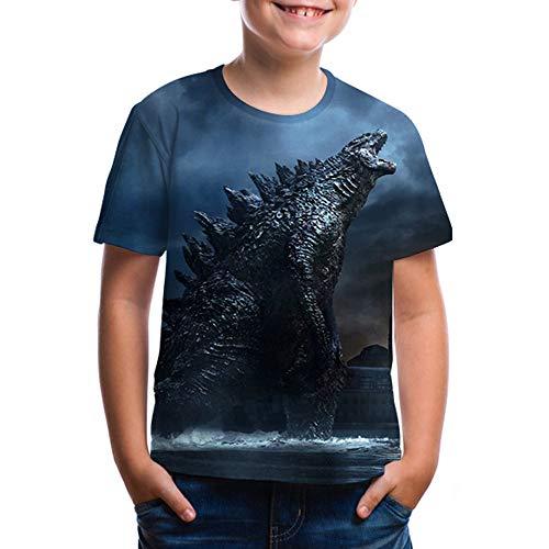 Monsters Kinder T-Shirts Godzilla 3D Gedruckte Kurzarm Easy Kinder T-Shirt Top ()