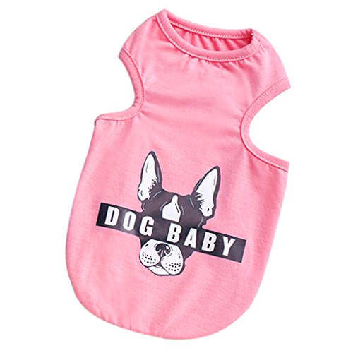 petsola Hundekleidung Hunde Weste T Shirt Welpen Hunde Bekleidung Kostüm Für Frühling, Sommer Und Herbst - Rosa ()