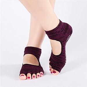 BSD Fußabdeckung Yoga Socken Graben Loch Backless Rutschfeste Finger für Frauen