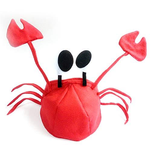 1 Pc Rote Krabben-Hut-Halloween-Maskerade Cosplay Zubehör