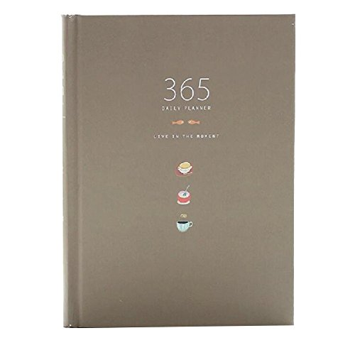 Nette 365 Tage Planer Nachfüllungen Täglich Wöchentlich Monatliche Kalender Zeitplan Notizbuch Tagebuch Gebunden To-Do-Liste Buch Agenda Organizer Schule Schreibwaren (Kaffee) Ziel Agenden