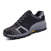 SafeByAlex Work Safety Steel Toe Shoes Sneaker Style for Men