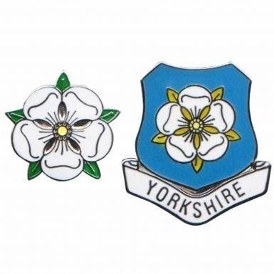 Yorkshire County Rose Pin Badges (Tour De France Flag)