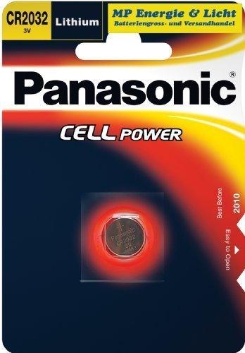 Panasonic Lithiumbatterie Typ CR 2032 / 2er Pack Panasonic Cr2032 3v Batterie