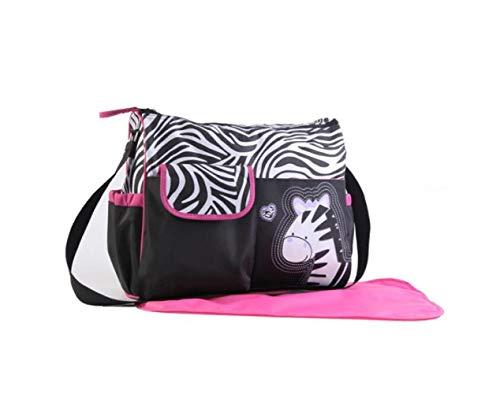 sonpo Große Kapazität Handtasche Mumientasche Fashion Tote Bag Mummy Bag Tote Handtasche Windeltasche grün Giraffe, pink Zebra, 39x32x15CM -