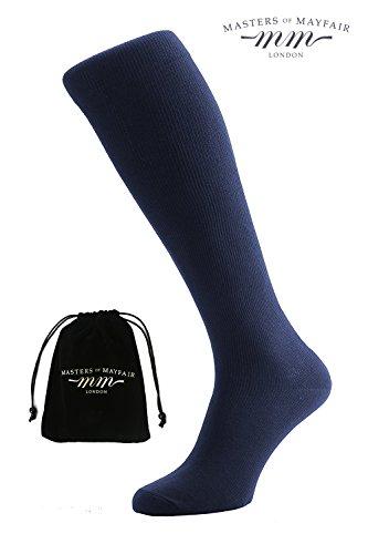 Luxury Kompressionsstrümpfe Für Männer Und Frauen - Für Lange Flugfahrt - Kniehohe Medizinische Energiestrümpfe Gegen Thrombose, Für Gute Durchblutung & Gegen Geschwollene Beine (Marineblau) (Füße, Geschwollene Beine)