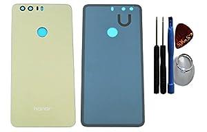 Huawei Honor 8 Akkudeckel Deckel Backcover in gold + Klebefolie + Werkzeug + Reparaturanleitung (Austausch des Backcovers) von SPES®
