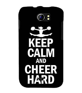 Fuson Designer Back Case Cover for Micromax Canvas 2 A110Q :: Micromax A110Q Canvas 2 Plus :: Micromax Canvas 2 A110 (Cheer Leader Cheer Up Be active Be Calm Be Cool)