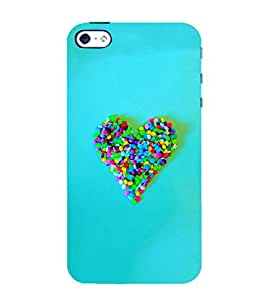Takkloo Blue background ( Heart made of candy, colourful heart, love sign, Heart sign) Printed Designer Back Case Cover for Apple iPhone SE