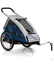 XLC Mono - Remorque vélo - gris/bleu 2017 remorque velo enfant