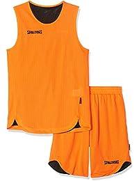 53cbf8b6cb21 SPALDING - DOUBLE FACE KIT REVERSIBLE JUNIOR - Kit Maillot et Short de  Basket Junior - Kit reversible Junior…