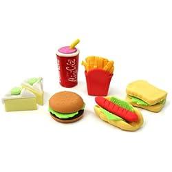 Divertido Cute Food goma del borrador de lápiz Set escritorio de la novedad del regalo del partido Niños