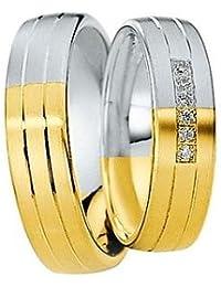 Saint Maurice Trauringe Eternity DR820280/HR820290 - Gelbgold/Weißgold