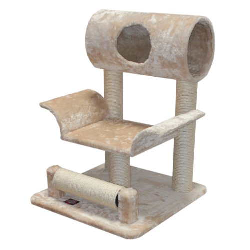 Majestic Pet Products 73,7 cm Beige Casita Cat mobili condo House Scratcher Multi Livello Pet attività Albero