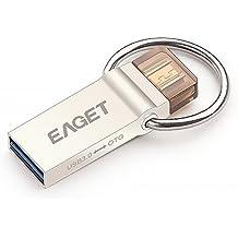 EAGET V90 Penna USB 16GB 2in1 USB 3.0 Micro USB OTG Massima compatibilità Smartphone Tablet PC Windows Android Linux Porta Chiavi USB