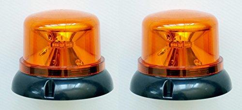 2x emergencia LED giratoria efecto advertencia ámbar naranja luz faro 12–24V para camión volquete camión Tractor Vehículo de emergencia