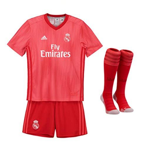 adidas Kinder 18/19 Real Madrid 3rd Mini-ausrüstung, Coral/Vivid red, 92