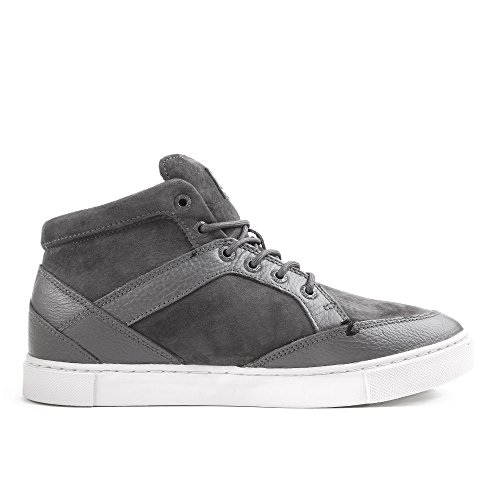 HUB Brixton Leather Dark Grey Light Grey Gris