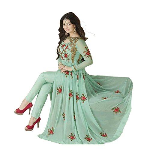 Deval creationStylish Designer Embroidered Gerorgette Bollywood Anarkali Salwar suit