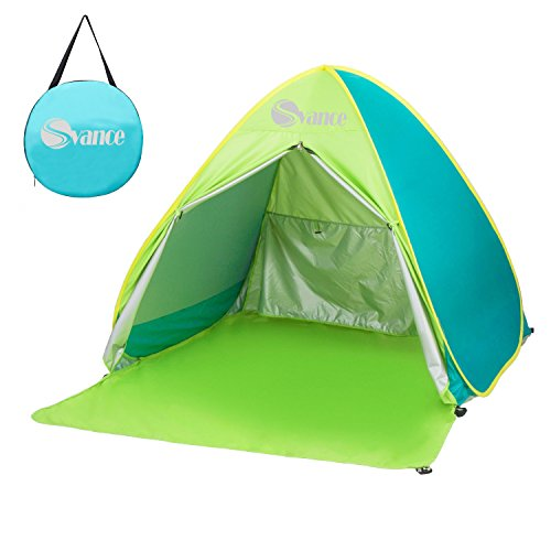 Tenda da spiaggia svance automontante con protezione uv comoda per famiglia da 2 o 3 persone (verde)