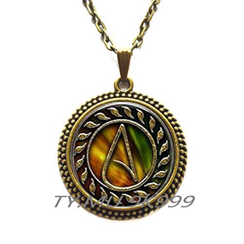 Atheist-Halskette, Atheist-Anhänger, Atheist-Schmuck, Atheist-Symbol, Atheismus-Halskette, Atheismus-Anhänger, handgefertigt, Y227